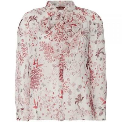 マックスマーラ Max Mara Studio レディース ブラウス・シャツ トップス Pussy bow tie floral blouse Pink