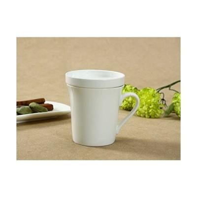 西田(Nishida) 蓋付マグカップ(320ml)/蓋はお菓子受けにもなれる 白い 陶磁器 大容量 130247