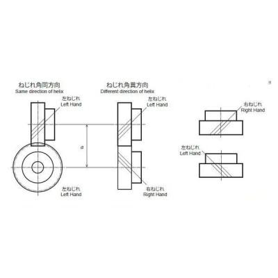 協育歯車工業 はすば歯車/ねじ歯車 H2S13R-B