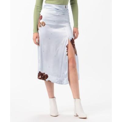 【TOMORROWLAND BUYING WEAR】GANNI ヘビーサテン サイドスリットスカート