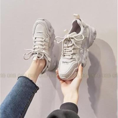 スニーカー レディース ダンス 夏 厚底 ダッドスニーカー 靴 美脚 シューズ カジュアル 2021 20代 30代 40代 50代
