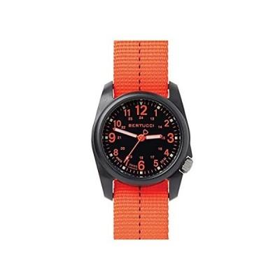 Bertucci dx3Field Resin Watch、dash-striped Drabナイロンストラップ、ブラックダイヤル–11042