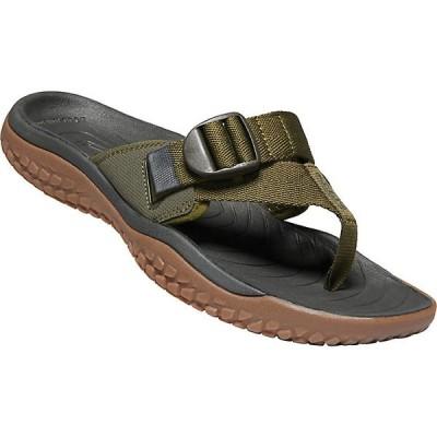 キーン サンダル メンズ シューズ KEEN Men's Solr Toe Post Sandal Dark Olive