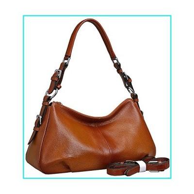 Heshe Women's Leather Shoulder Handbags Tote Bag Top Handle Bag Ladies Designer Purses Satchel Cross-body Handbag (Sorrel-NEW)【並行輸入品】