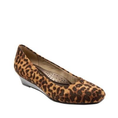 トロッターズ レディース パンプス シューズ Lauren Cheetah Print Microfiber Pumps Tan Cheetah