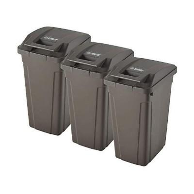 ASVEL SP ハンドル付ダストボックス 45L 3個セット + 分別ステッカー 【4点セット】 ゴミ箱 ごみ箱 ダストボックス
