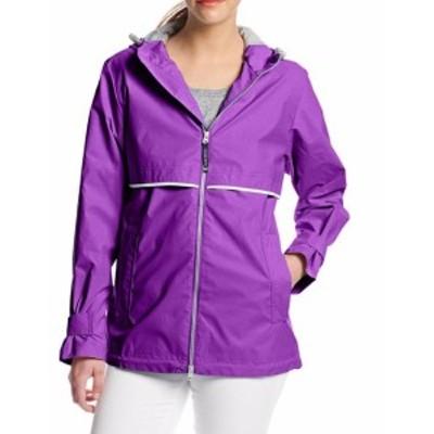 ファッション 衣類 Charles River Apparel NEW Purple Womens Size XL Full Zipper Jacket
