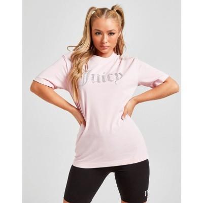 ジューシークチュール JUICY COUTURE レディース Tシャツ トップス diamante logo boyfriend t-shirt pink
