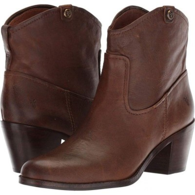 フライ Frye レディース ブーツ シューズ・靴 Jolene Pull-On Short Brown Smooth Pull-Up
