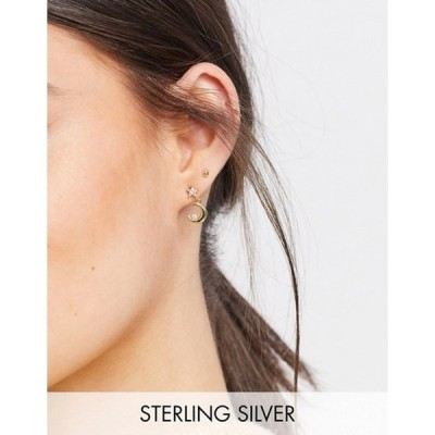 シャシ レディース ピアス・イヤリング アクセサリー Shashi celestial drop stud earrings in gold plated sterling silver