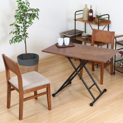 昇降テーブル シルビア ブラウン 19242 リビングテーブル センターテーブル 机