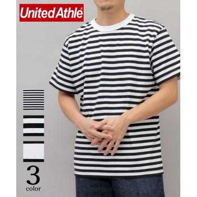 (AMS SELECT/エーエムエスセレクト)【United Athle/ユナイテッドアスレ】5.6オンスボーダーTシャツ/大きめ/ユニセックス ブラックA