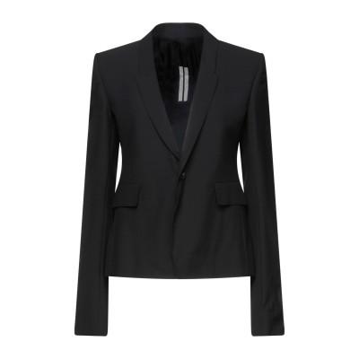 リック オウエンス RICK OWENS テーラードジャケット ブラック 46 ポリエステル 53% / バージンウール 44% / ポリウレタン