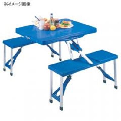 キャプテンスタッグキャプテンスタッグ アウトドアテーブル アルミピクニックテーブル   ブルー