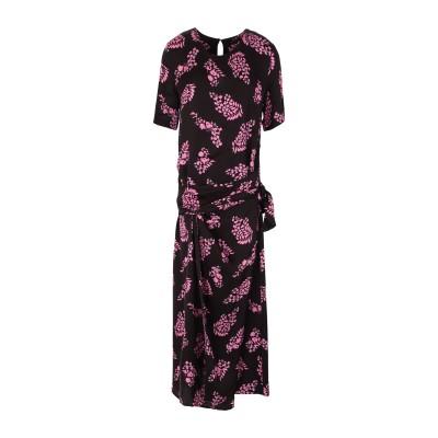 HANAMI D'OR ロングワンピース&ドレス ダークブルー 42 レーヨン 100% ロングワンピース&ドレス