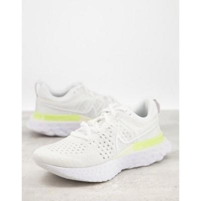 ナイキ レディース スニーカー シューズ Nike Running React Infinity Run flyknit 2 sneakers in white