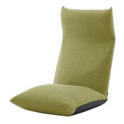 ローチェア ヘッドリクライニング座椅子 座面コイル グリーン(  座椅子 座いす チェア チェアー 椅子 座イス いす イス フロアチェア リクライニングチェア ソファチェア 1人用 日本製 完成品 一人用 座椅子ソファ あぐら椅子 )