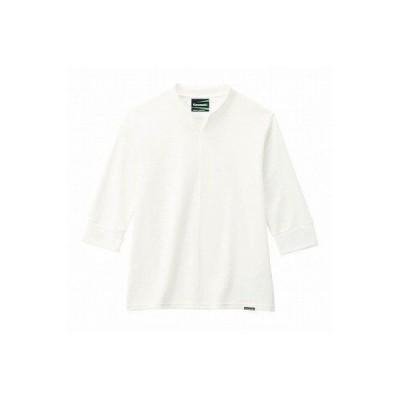 カワサキ純正 デザインヘンリーネックシャツ(ホワイト/Mサイズ)_Kawasaki