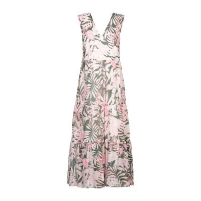 ポール & ジョー PAUL & JOE ロングワンピース&ドレス ピンク 38 コットン 100% ロングワンピース&ドレス