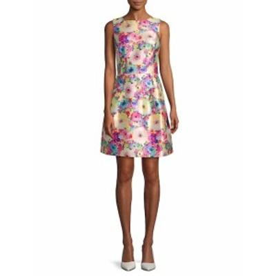 オスカーデラレンタ レディース ワンピース Floral A-Line Dress