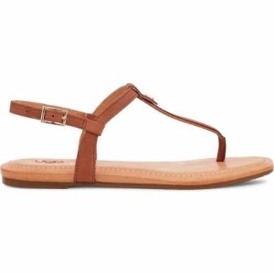 アグ Ugg レディース サンダル・ミュール シューズ・靴 Madeena Sandals Tan Leather