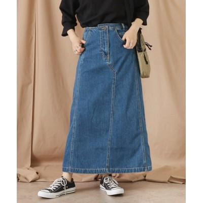 Factor= / Fcator= アシメウエストデニムスカート WOMEN スカート > デニムスカート