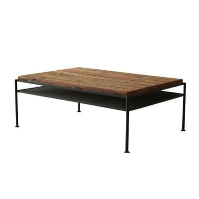 アンティーク調シリーズ ケルト リビングテーブル  古木 ローテーブル センターテーブル 机 おしゃれ 激安 ブラウン 茶色 完成品 北欧