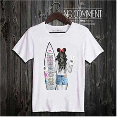 送料無料【NO COMMENT PARIS】★ メンズTシャツ SurfGirl