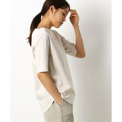 Gabardine K.T/ギャバジンK.T 五分袖 Tシャツ ベージュ 9号