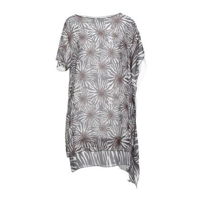 MALAICA ミニワンピース&ドレス グレー 44 レーヨン 100% ミニワンピース&ドレス