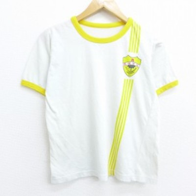 古着 レディース 半袖 Tシャツ 80年代 80s 南強学校 エンブレム クルーネック 白他 ホワイト リンガー 中古 Tシャツ 古着