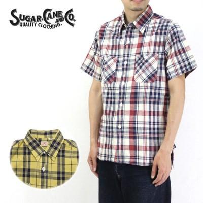 SUGAR CANE シュガーケーン 半袖 シャツ MADRAS CHECK S/S WORK SHIRT SC38159 メンズ 東洋エンタープライズ マドラスチェック ワークシャツ