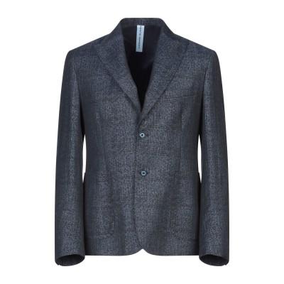 アレッサンドロデラクア ALESSANDRO DELL'ACQUA テーラードジャケット ダークブルー 48 ポリエステル 40% / 麻 30%