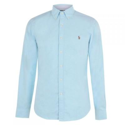 ラルフ ローレン Polo Ralph Lauren メンズ シャツ ワイシャツ トップス Oxford Shirt Aegean Blue