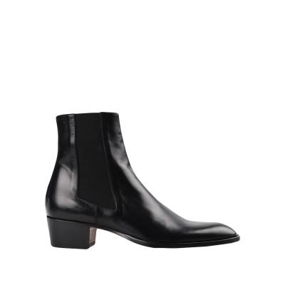 ALESSANDRO VASINI ショートブーツ ブラック 40 牛革(カーフ) 100% ショートブーツ