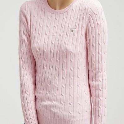 ガント レディース ファッション CABLE CREW - Jumper - nantucket pink