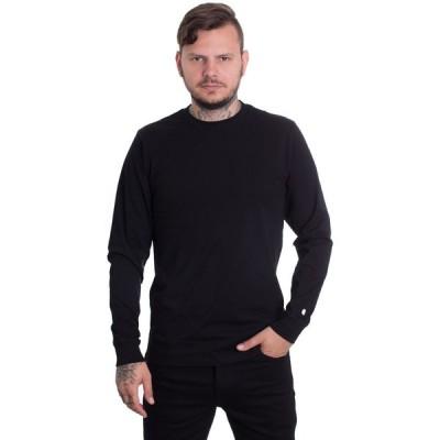 カーハート Carhartt WIP メンズ トップス - Base Black/White - Longsleeve black