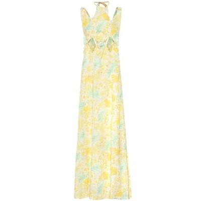 カルト ガイア Cult Gaia レディース ワンピース マキシ丈 ワンピース・ドレス sabine floral linen maxi dress Lemonade Multi