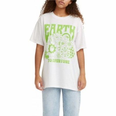 リーバイス LEVIS レディース Tシャツ トップス Earth To Everyone Graphic Tee Earth To Everyone White