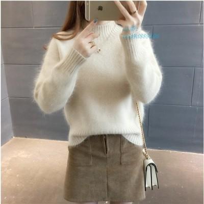 ニットセーター セーター ニット 大人 カジュアル 長袖 レディース ゆったり 人気 着やすい 秋冬 4色