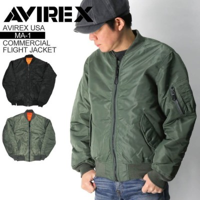 (アビレックス) AVIREX アヴィレックス【MA-1】コマーシャル フライトジャケット ミリタリージャケット メンズ レディース