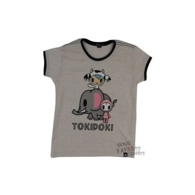 Tシャツ トキドキ Tokidoki Elephant Love Mozzarella Ciao Ciao Licensed Fashion Junior Shirt S-XL