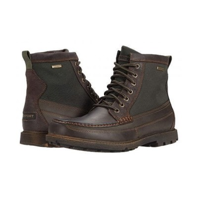 Rockport ロックポート メンズ 男性用 シューズ 靴 ブーツ レースアップ 編み上げ Storm Surge Waterproof High Moc Boot - Dark Brown Suede