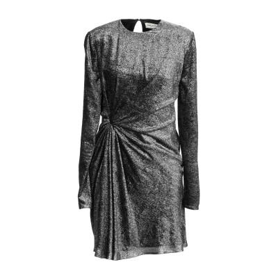 SAINT LAURENT ミニワンピース&ドレス シルバー 36 レーヨン 82% / シルク 18% ミニワンピース&ドレス