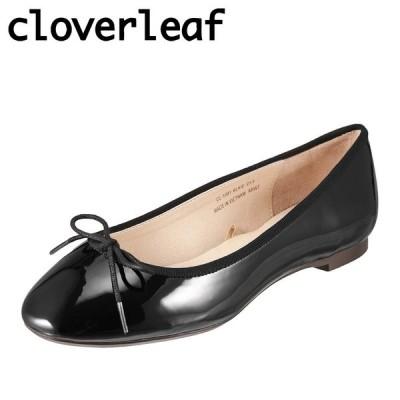 クローバーリーフ cloverleaf CL-1001 レディース | カジュアルパンプス | ラウンドトゥパンプス | ブラックエナメル