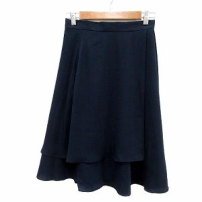 【中古】ビアッジョブルー Viaggio Blu ラップスカート フレア ミモレ ロング 1 紺 ネイビー /MN レディース