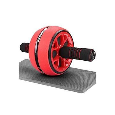 AUOPLUS 腹筋ローラー 膝マット付き 静音 一輪 アブホイール 腹筋 トレーニング器具 筋トレグッズ エクササイズローラー 体幹 ストレッチ ダ