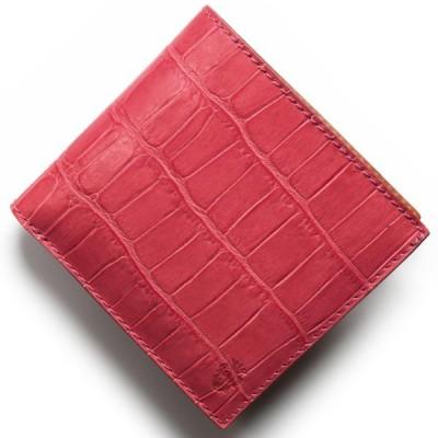 フェリージ 二つ折り財布 財布 メンズ クロコ型押し カードケースセット フクシアピンク 452 SA 0031 FELISI