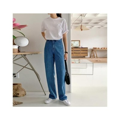 From Beginning レディース ジーンズ Pound straight long denim pants