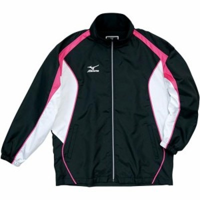 ミズノ(MIZUNO) ウォーマーシャツ ブラック×ホワイト×Fピンク A60JF29097 【トレーニングウェア ウォームアップ メンズ】